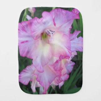 Planta floreciente púrpura del Hollyhock Paños Para Bebé
