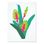 Planta floreciente tropical invitación 12,7 x 17,8 cm