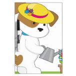Planta linda del perrito pizarra blanca