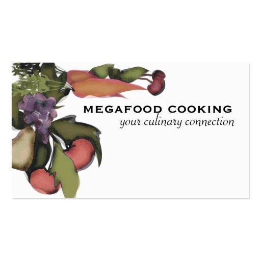 Planta mega de la legumbre de fruta que cocina el tarjetas de visita
