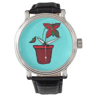 Planta Potted Reloj De Mano