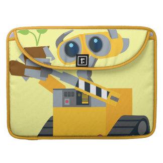 Planta que se sostiene triste del robot de WALL-E Fundas Para Macbooks