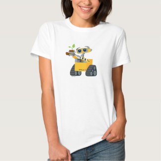 Planta que se sostiene triste del robot de WALL-E Poleras
