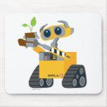 Planta que se sostiene triste del robot de WALL-E Tapete De Raton