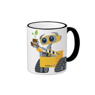 Planta que se sostiene triste del robot de WALL-E Taza De Dos Colores
