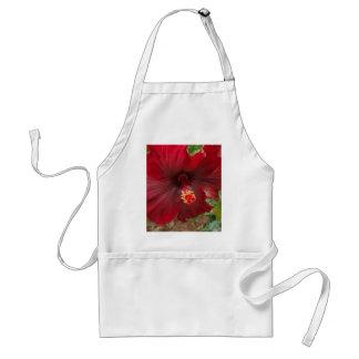 planta roja del hibisco de Hawaii Delantal