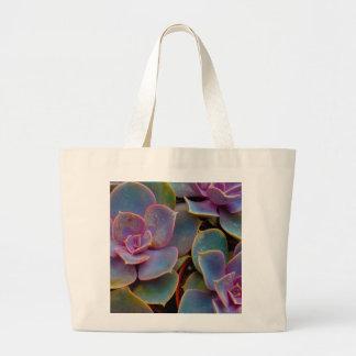 Planta suculenta púrpura del cactus del verde azul bolsa de mano