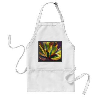 Planta tropical brillante del agavo delantal