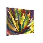Planta tropical brillante del agavo impresión en lienzo estirada