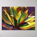 Planta tropical brillante del agavo posters