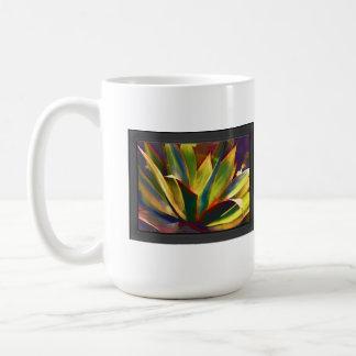 Planta tropical brillante del agavo tazas