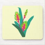 Planta tropical colorida alfombrillas de ratón