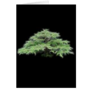 Planta verde del árbol de los bonsais tarjeta de felicitación