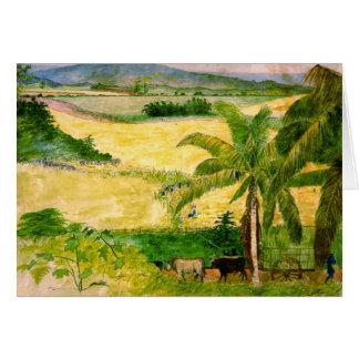 Plantación 1808 del azúcar tarjeton