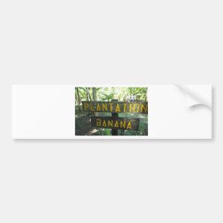 plantación de plátano etiqueta de parachoque