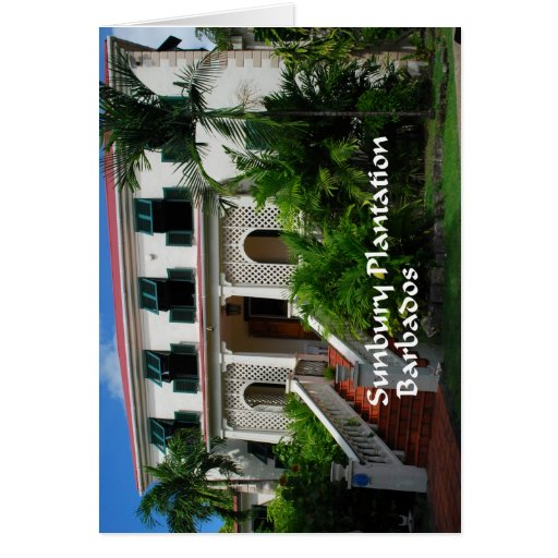Plantación de Sunbury en Barbados Felicitacion