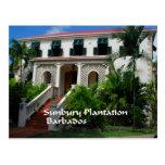 Plantación de Sunbury en Barbados Tarjeta Postal