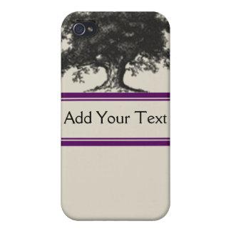 Plantación del roble en púrpura iPhone 4 funda