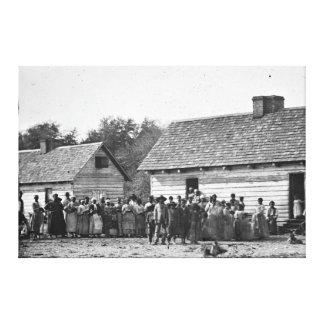 Plantación liberada Carolina del Sur de los esclav Lienzo Envuelto Para Galerías