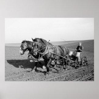 Plantador del maíz de Iowa los años 40 Impresiones