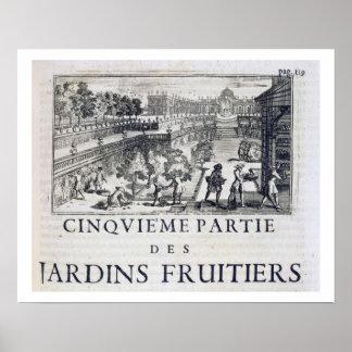 Plantando árboles frutales, de 'Le Parfait Jardini Póster