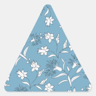 plantas botánicas pegatina triangular