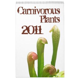 Plantas carnívoras calendarios
