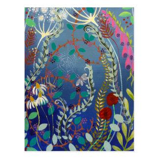 Plantas coloridas tarjeta postal