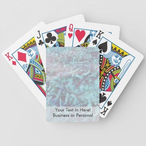 plantas de agua azules debajo del agua de la charc baraja cartas de poker