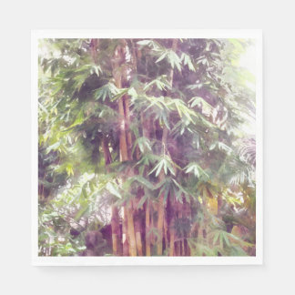 Plantas de bambú altas servilleta de papel