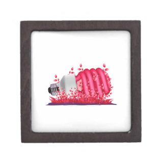 plantas de bombilla oblicuas del cfl del rojo ecol caja de recuerdo de calidad