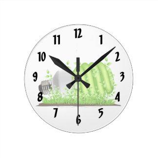 plantas de bombilla oblicuas del cfl ecology.png reloj redondo mediano