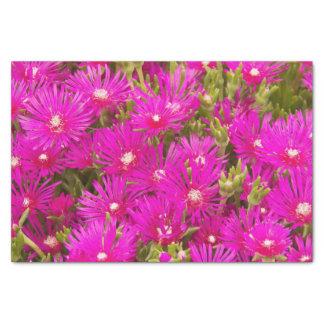 Plantas de hielo rosadas florales papel de seda pequeño