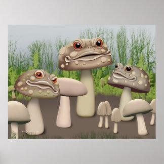 Plantas de la fantasía del Toadstool Póster
