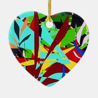 Plantas de la selva del arte abstracto ornamento de navidad