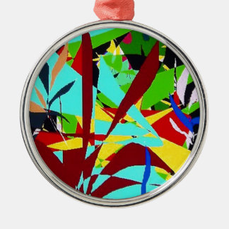Plantas de la selva del arte abstracto adorno de navidad