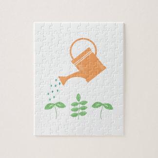 Plantas de riego puzzle con fotos