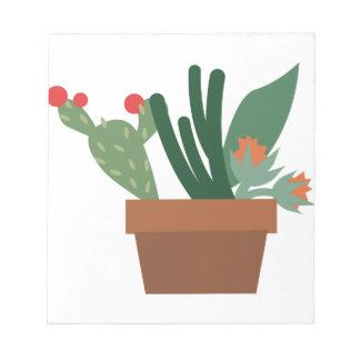 Plantas del cactus bloc de notas