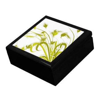 Plantas del oro en blanco cajas de regalo