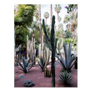 plantas exóticas del majorelle tarjeta postal