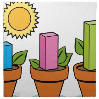 Plantas financieras del crecimiento servilletas de papel