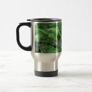 plantas frondosas, helecho taza de viaje de acero inoxidable