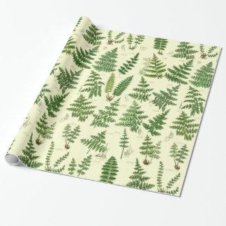 Plantas frondosas verdes del vintage papel de regalo