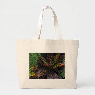 Plantas tropicales bolsa lienzo