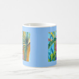 Plantas tropicales taza de café