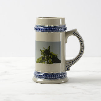 Plantas verdes taza de café