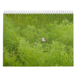 Plantas y árboles calendario de pared