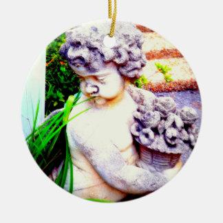 Plantation Cherub Ceramic Ornament