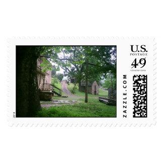 Plantation house stamp