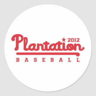 Plantation HS Colonels Classic Round Sticker
